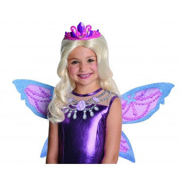 Kids Barbie Catania Wig with Tiara - HalloweenCostumes4U.com - Accessories