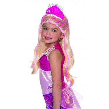 Kids Barbie Lumina Wig with Tiara - HalloweenCostumes4U.com - Accessories