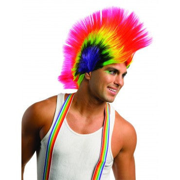 Rave Punk Mohawk Wig - HalloweenCostumes4U.com - Accessories
