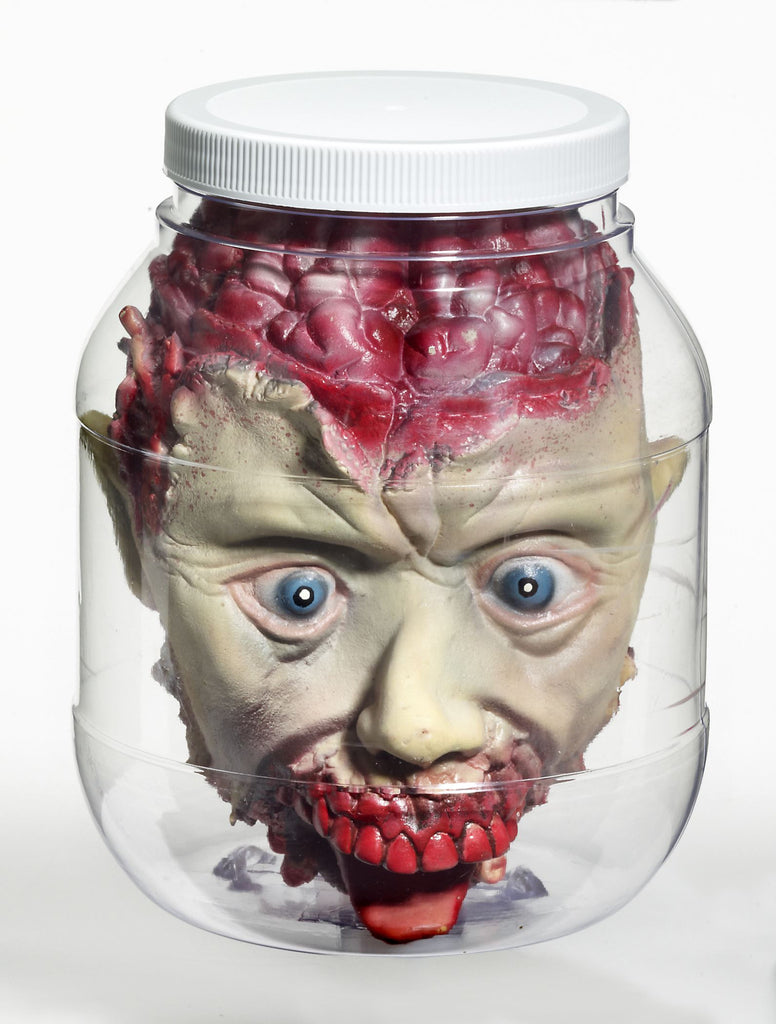 Halloween Props Laboratory Head in Jar - HalloweenCostumes4U.com - Decorations