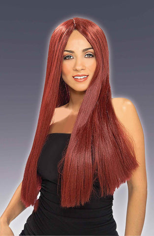 Halloween Costume Wigs Long Burgundy Wig - HalloweenCostumes4U.com - Accessories