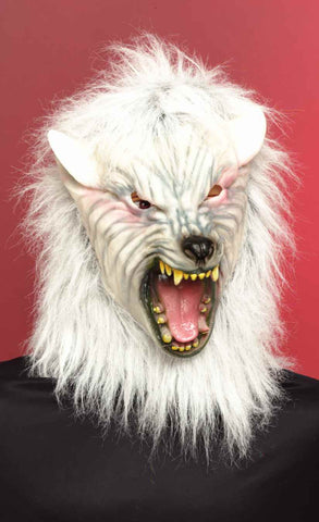 Halloween Masks White Wolf Masks - HalloweenCostumes4U.com - Accessories