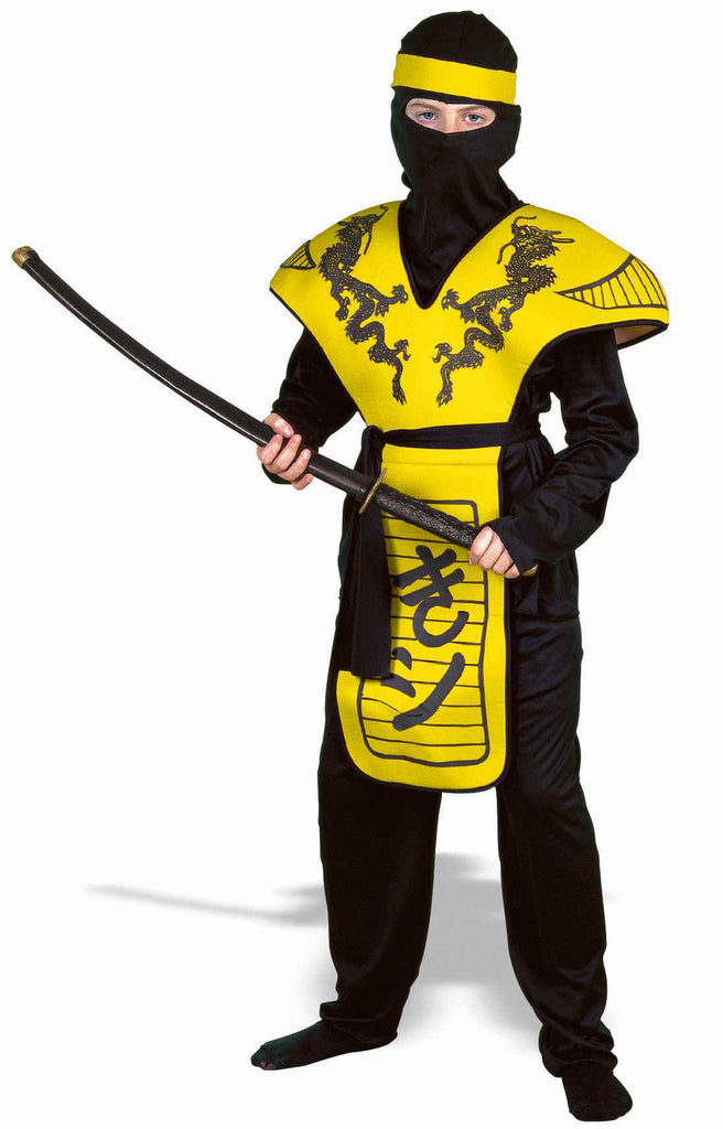 Halloween Costumes Yellow Ninja Kids Costumes - HalloweenCostumes4U.com - Kids Costumes