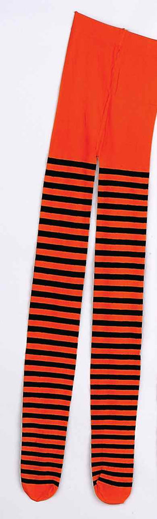 Halloween Costume Tights Orange Stripe Tights - HalloweenCostumes4U.com - Accessories