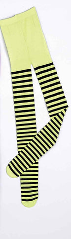 Halloween Costume Tights Green Stripe Tights - HalloweenCostumes4U.com - Accessories