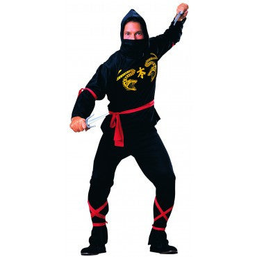 Mens Black Ninja Costume - HalloweenCostumes4U.com - Adult Costumes