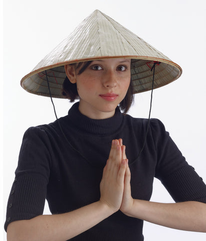 Costume Hats Chinese Coolie Straw Hats - HalloweenCostumes4U.com - Accessories