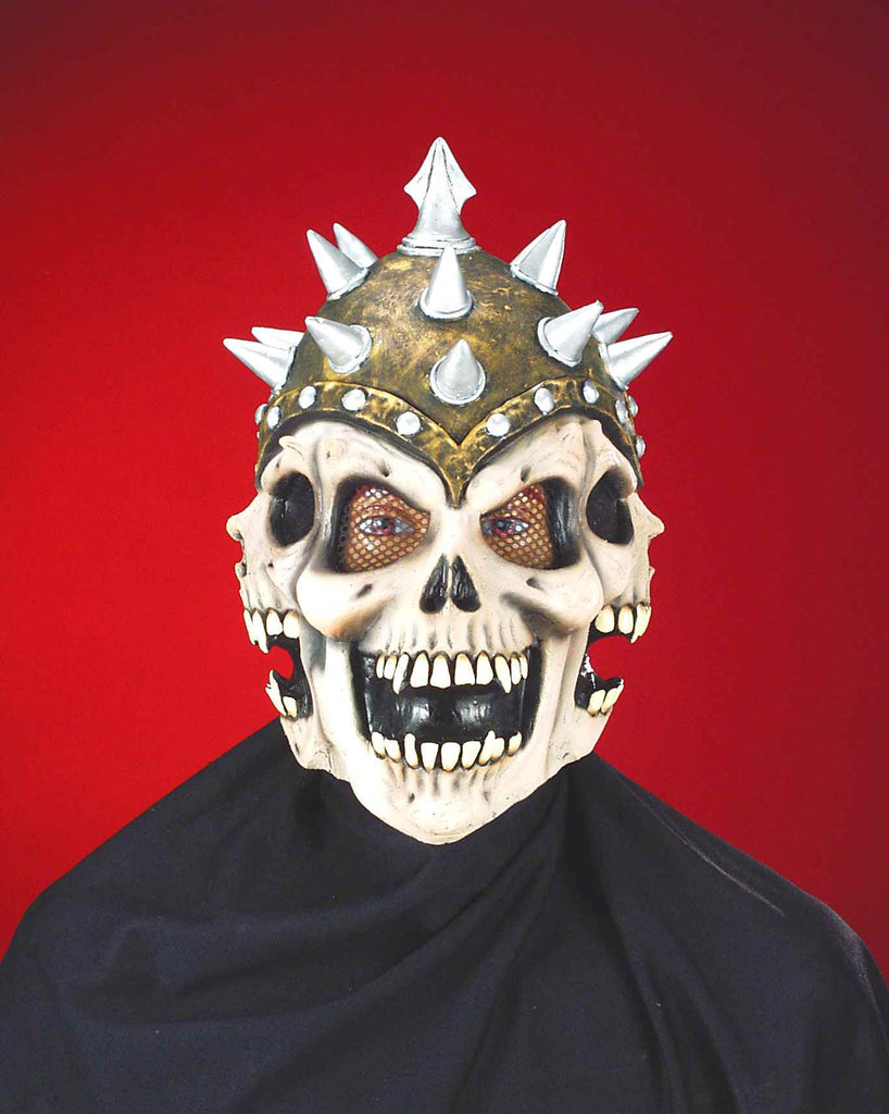 Mask-3-D Spiked Skull - HalloweenCostumes4U.com - Accessories