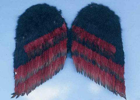Costume Wings Small Black/Burgundy Costume Wings - HalloweenCostumes4U.com - Accessories