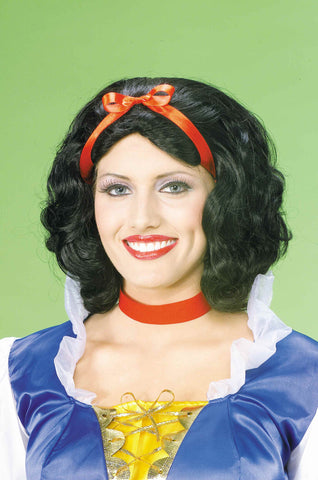Snow White Wigs Halloween Costume Wig - HalloweenCostumes4U.com - Accessories