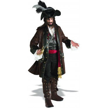 Mens Caribbean Pirate Costume - Grand Heritage Collection - HalloweenCostumes4U.com - Adult Costumes