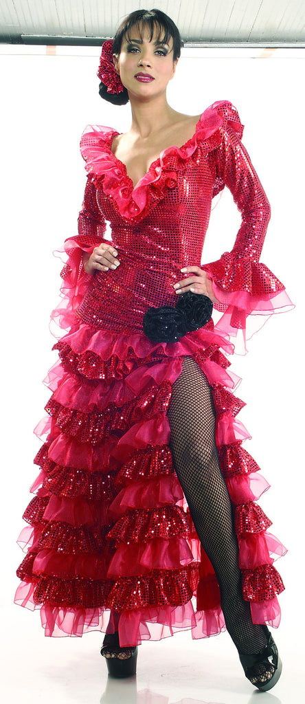 Womens Red Senorita Costume - Grand Heritage Collection - HalloweenCostumes4U.com - Adult Costumes