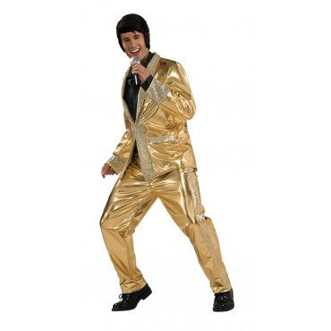Mens Gold Lame Elvis Costume - Grand Heritage Collection - HalloweenCostumes4U.com - Adult Costumes