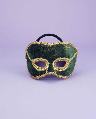 Costume Eye Masks His Green Mask - HalloweenCostumes4U.com - Accessories