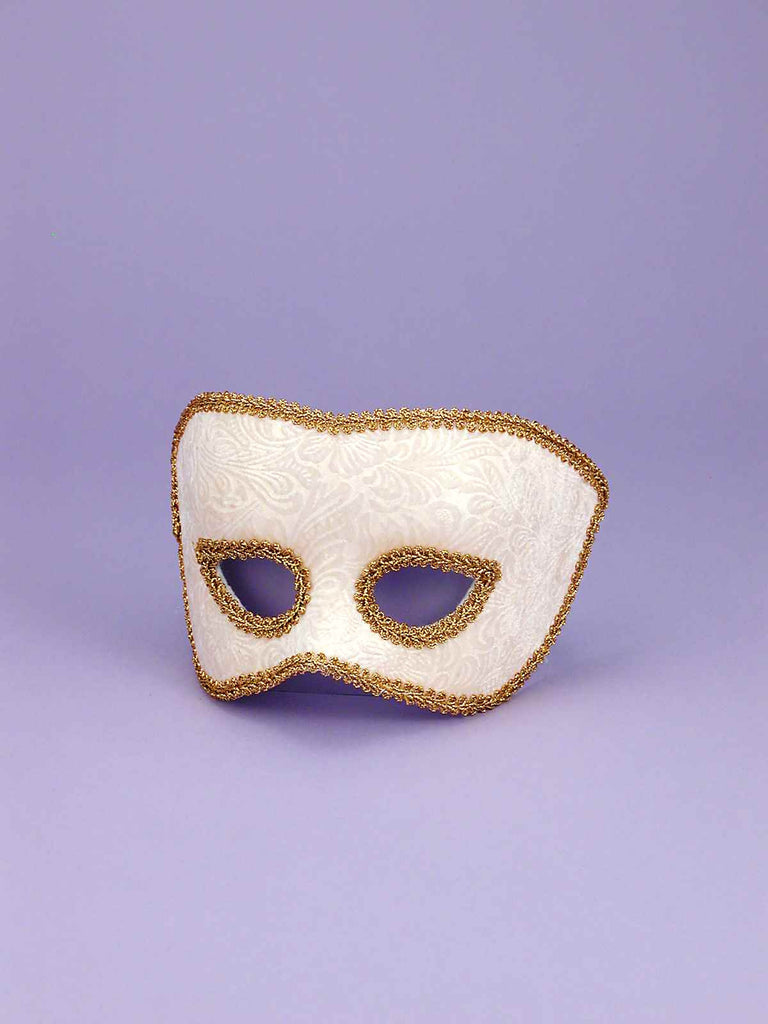 Costume Face Masks His White/Gold - HalloweenCostumes4U.com - Accessories