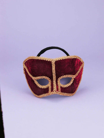 Costume Eye Masks His Maroon Masks - HalloweenCostumes4U.com - Accessories