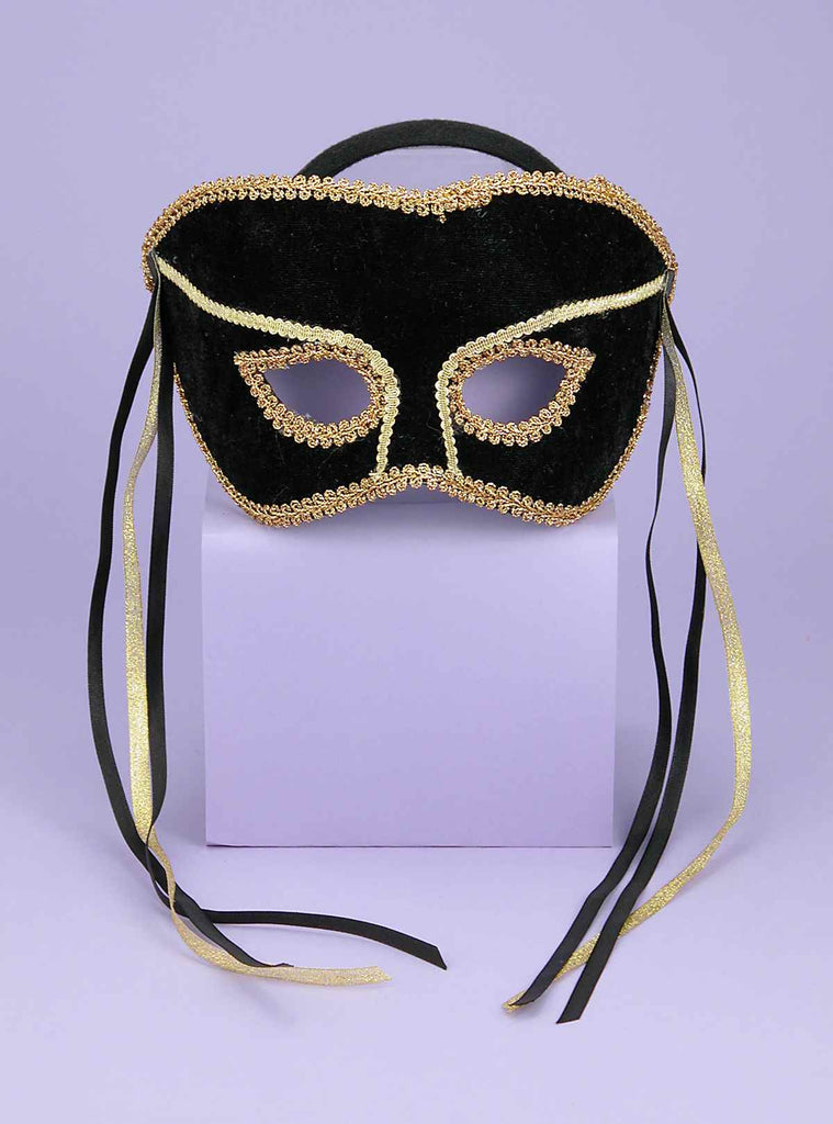 Costume Eye Masks His Black Mask - HalloweenCostumes4U.com - Accessories