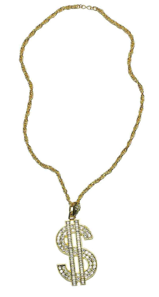 Costume Jewelry Dollar Sign Necklace