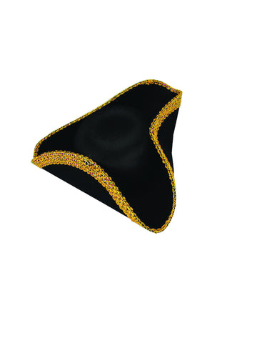 Halloween Costume Hats Deluxe Tri-Corner Hat - HalloweenCostumes4U.com - Accessories