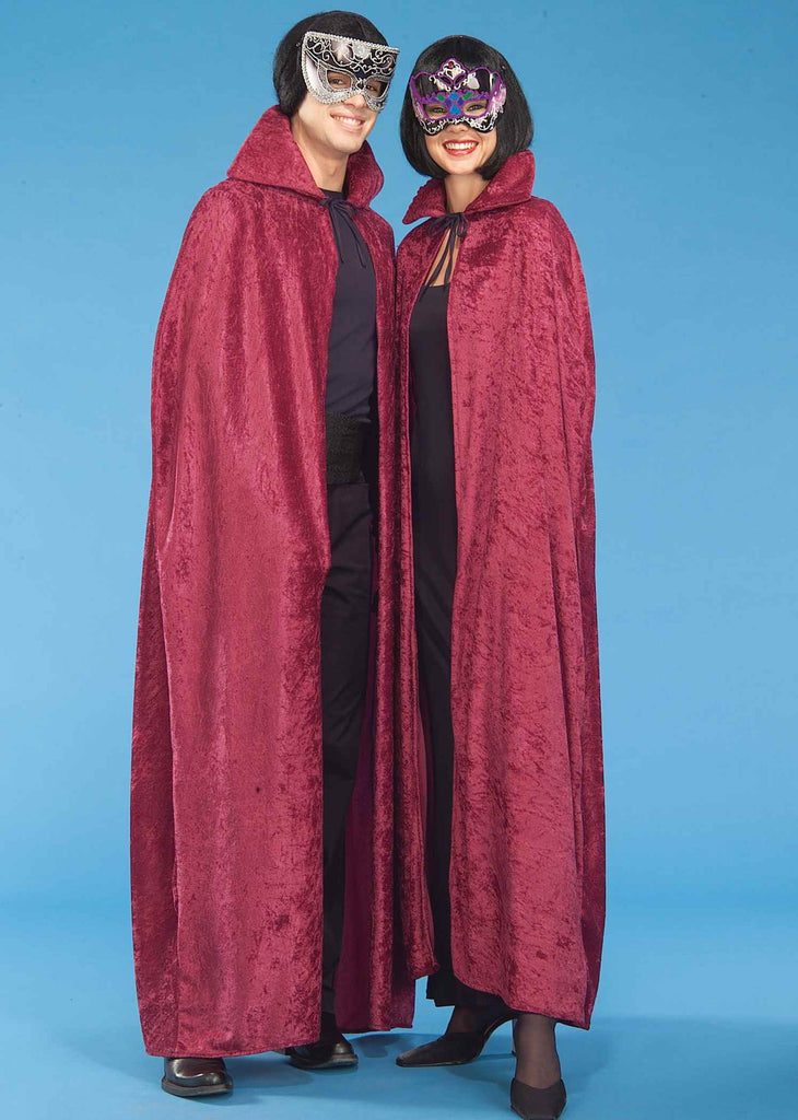 Halloween Capes Burgundy Velvet Costume Capes - HalloweenCostumes4U.com - Accessories