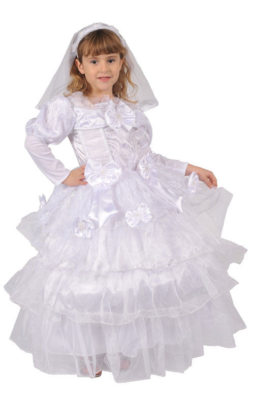 Girls Deluxe Exquisite Bride Costume - HalloweenCostumes4U.com - Kids Costumes