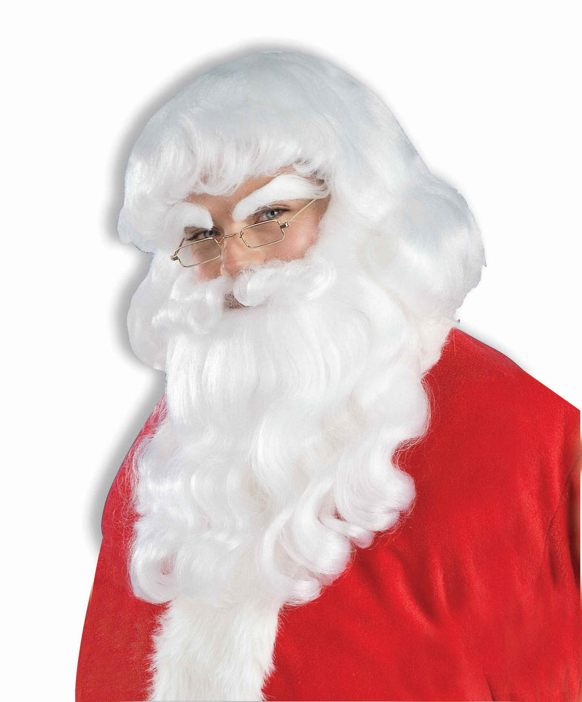 Deluxe Santa Claus Wig and Beard Set - HalloweenCostumes4U.com - Holidays