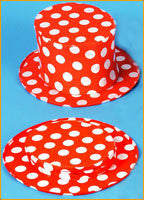Costume Top Hats Childs Polka Dot Collapsible Top Hat