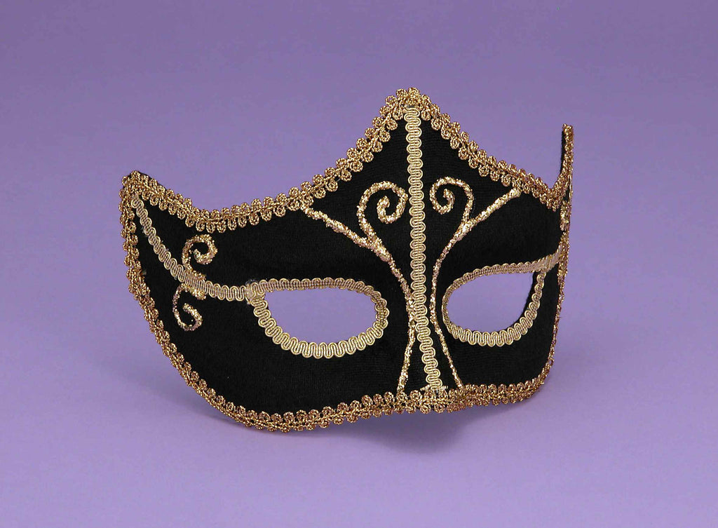 Halloween Masks Fancy Black Eye Masks - HalloweenCostumes4U.com - Accessories