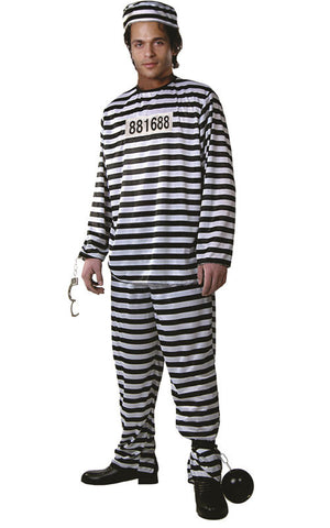 Adults Prisoner Costume - HalloweenCostumes4U.com - Kids Costumes