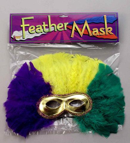 Feather Mask for Mardi Gras - HalloweenCostumes4U.com - Holidays