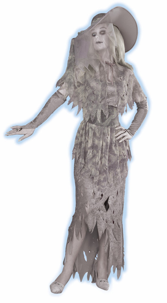 Halloween Costumes GID Ghostly Gal Halloween Costume - HalloweenCostumes4U.com - Adult Costumes