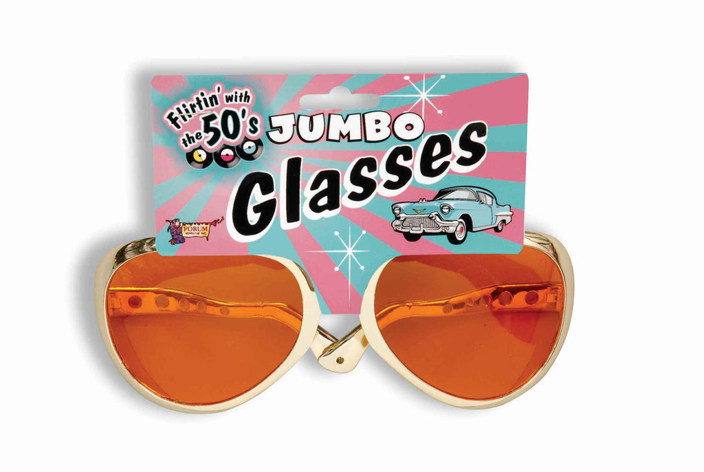 Jumbo Sunglasses Gold Frames - HalloweenCostumes4U.com - Accessories