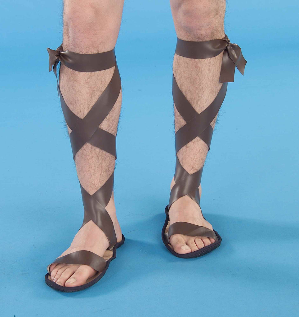 Halloween Costume Sandals Roman Costume Sandals - HalloweenCostumes4U.com - Accessories