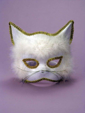 Halloween Costumes White Cat Masks - HalloweenCostumes4U.com - Accessories