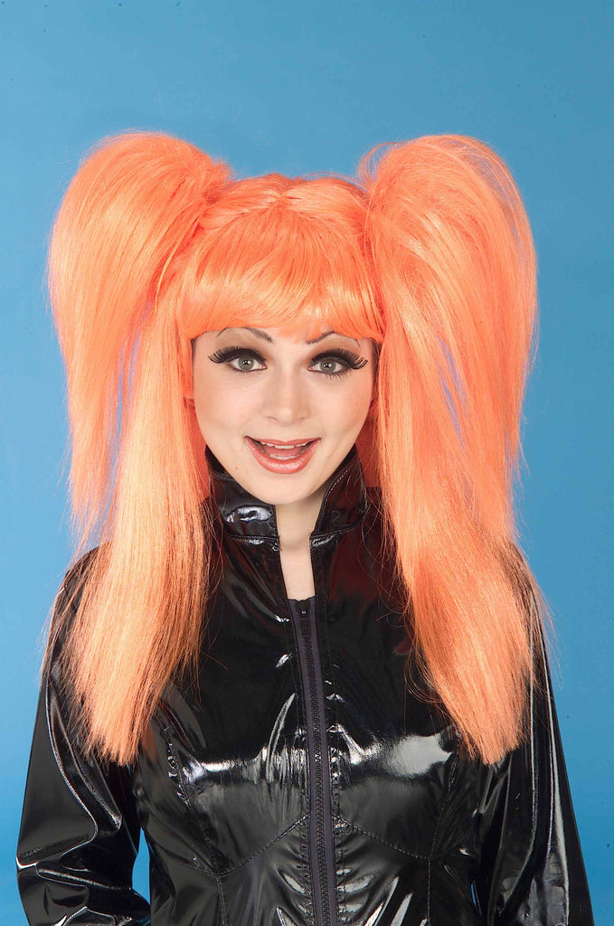 Costume Wigs Orange Pigtails Wigs - HalloweenCostumes4U.com - Accessories
