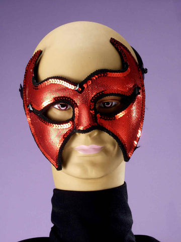 Costume Masks Devil Half Mask - HalloweenCostumes4U.com - Accessories