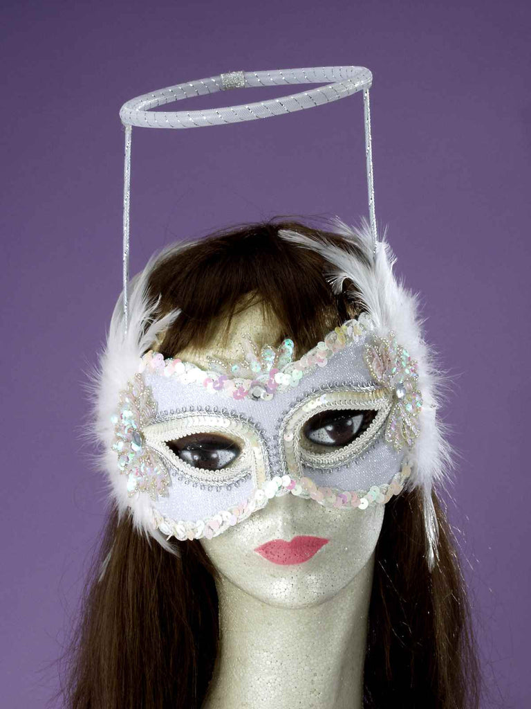 Costume Masks Angel Half Mask - HalloweenCostumes4U.com - Accessories