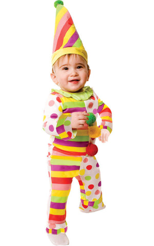 Infants Dots & Stripes Clown Costume - HalloweenCostumes4U.com - Infant & Toddler Costumes