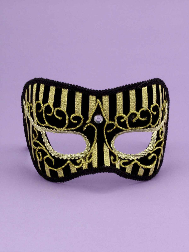 Costume Masks Gold Oriental Half Mask - HalloweenCostumes4U.com - Accessories