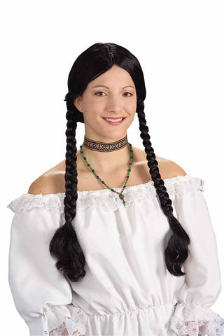 Costume Wigs Long Black Pigtails Costume Wig - HalloweenCostumes4U.com - Accessories