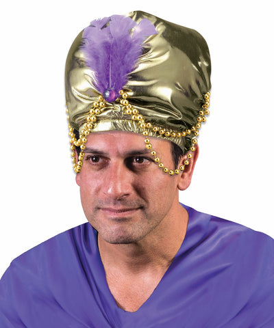 Costume Hats Egyptian Turban w/Bead Trim - HalloweenCostumes4U.com - Accessories