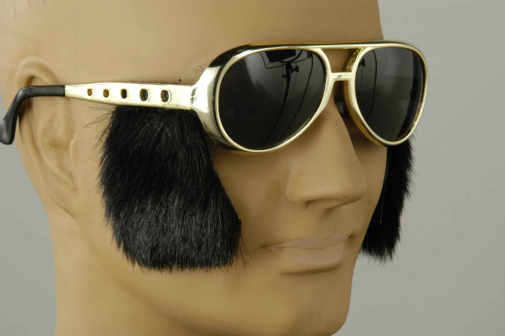 Fifties Rock Star Costume Sideburns and Sunglasses
