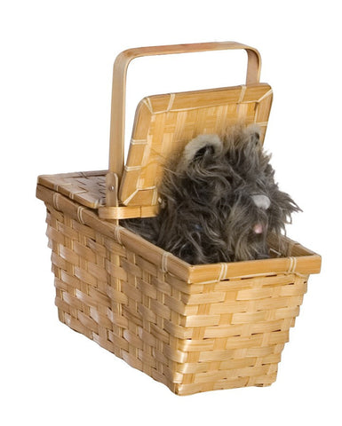 Wizard of Oz Deluxe Toto in a Basket Prop - HalloweenCostumes4U.com - Accessories