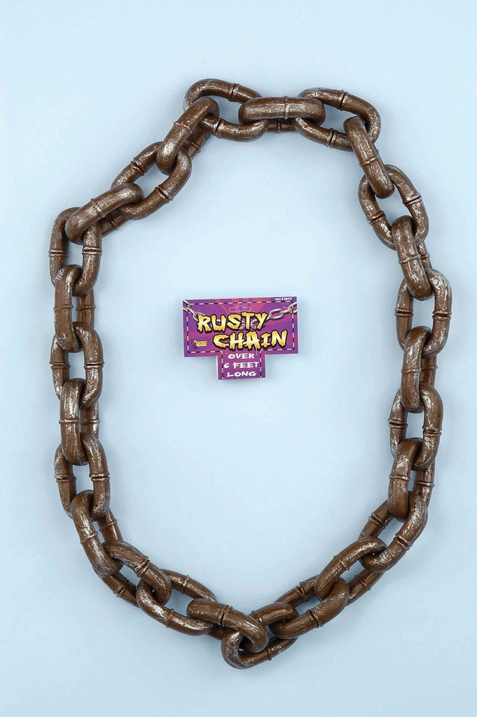 Halloween Props Jumbo Rusty Chain Horror Prop - HalloweenCostumes4U.com - Decorations