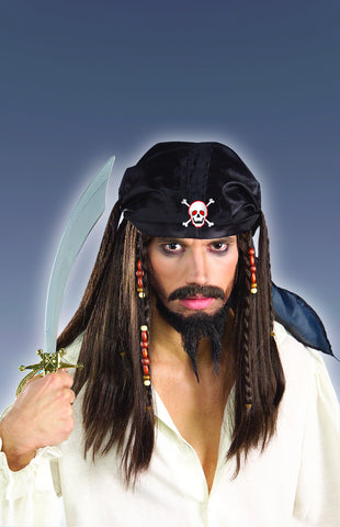 Costume Wigs Caribbean Pirate Halloween Wig - HalloweenCostumes4U.com - Accessories