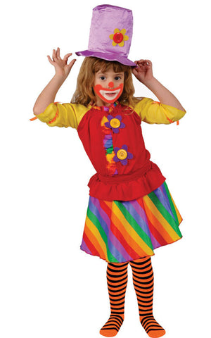 Kids/Toddlers Rainbow Clown Costume - HalloweenCostumes4U.com - Kids Costumes