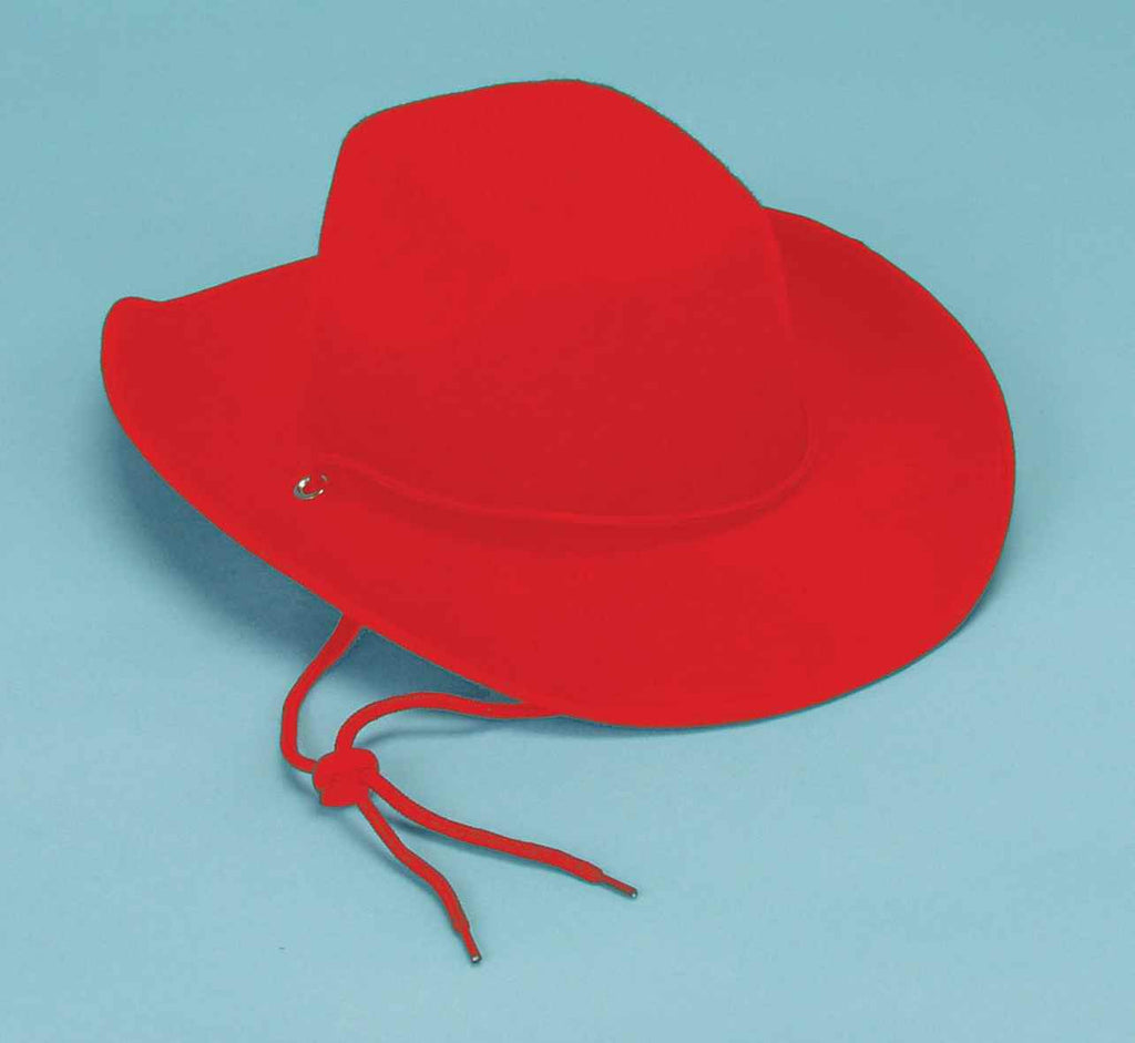 Cowboy Costume Hats Red Adult Cowboy Hat - HalloweenCostumes4U.com - Accessories