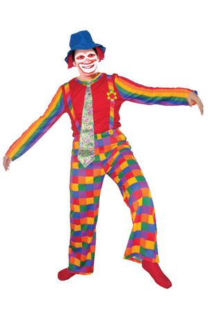 Adults Rainbow Clown Costume - HalloweenCostumes4U.com - Adult Costumes