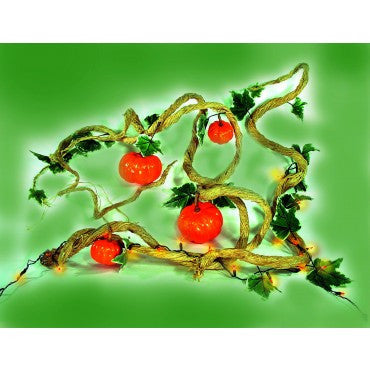Pumpkin Vine with Lights - HalloweenCostumes4U.com - Decorations