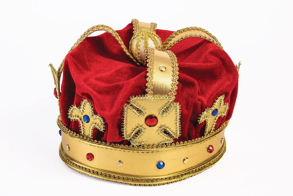 Mardi Gras Hats Regal Mardi Gras Kings Crown - HalloweenCostumes4U.com - Holidays